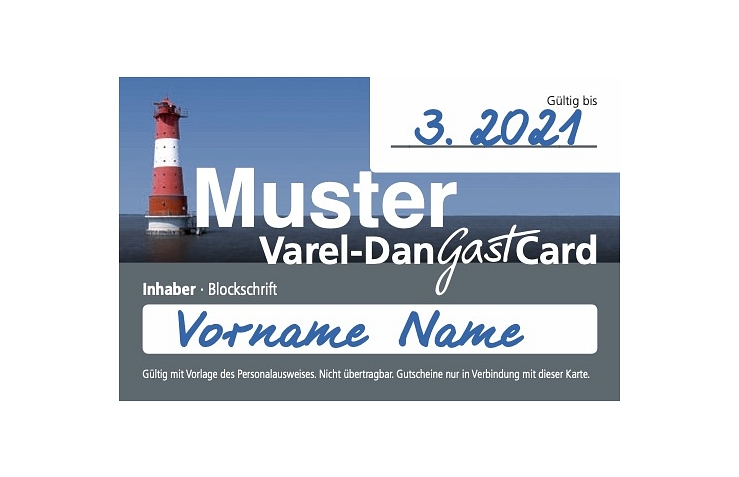 Varel-Dangast-Card 2019 © Stadtmarketing Varel GmbH